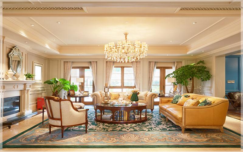 contoh desain interior rumah mewah
