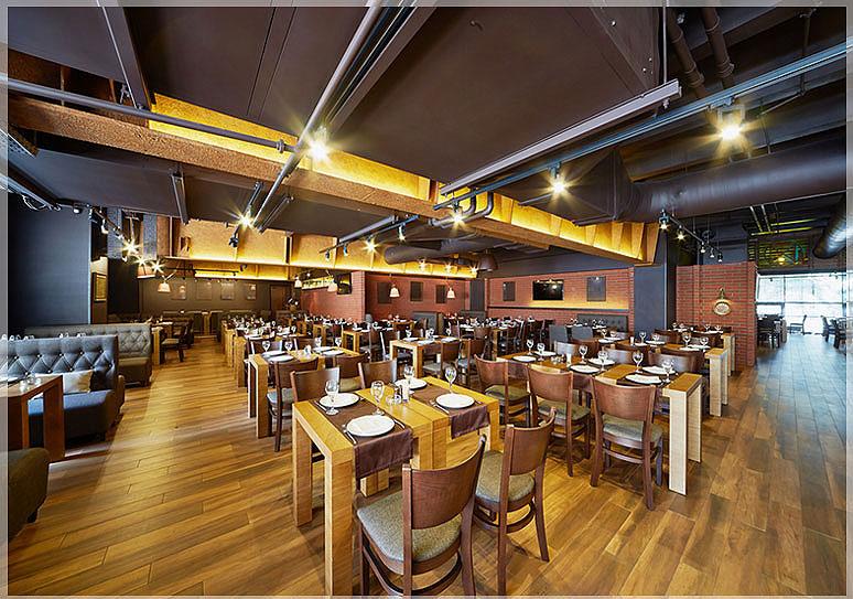Desain interior restoran minimalis nan mewah jasa desain - Iluminacion estilo industrial ...