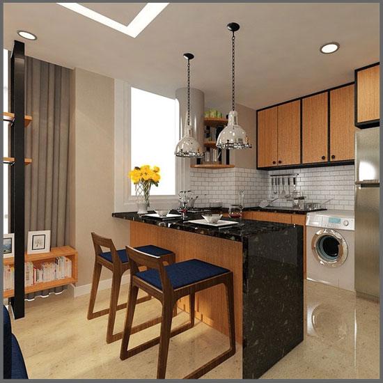 desain dapur rumah kecil minimalis