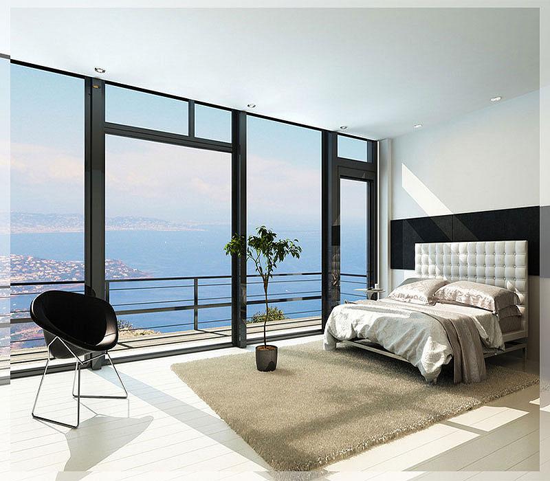 Jasa Desain Ruang Kantor Tangerang: Desain Interior Kamar Tidur Hotel Minimalis Sederhana Nan