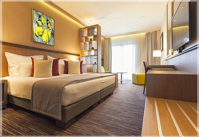 desain interior kamar tidur hotel minimalis
