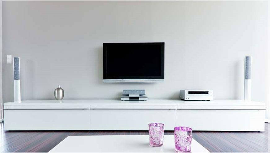 desain interior meja tv minimalis
