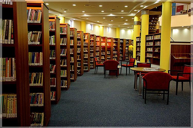 desain interior perpustakaan umum