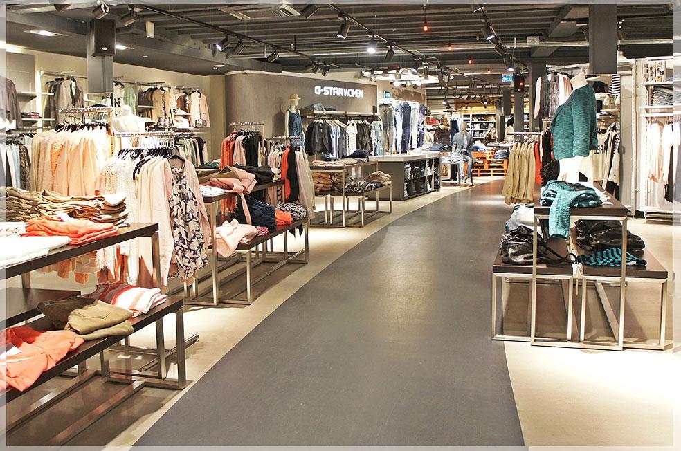 desain interior toko pakaian