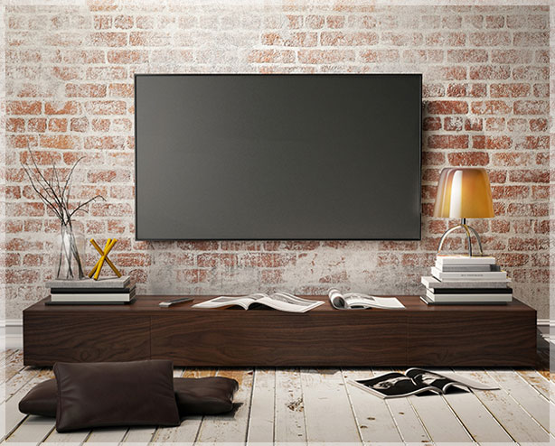 desain interior ruang tv minimalis jasa design interior. Black Bedroom Furniture Sets. Home Design Ideas