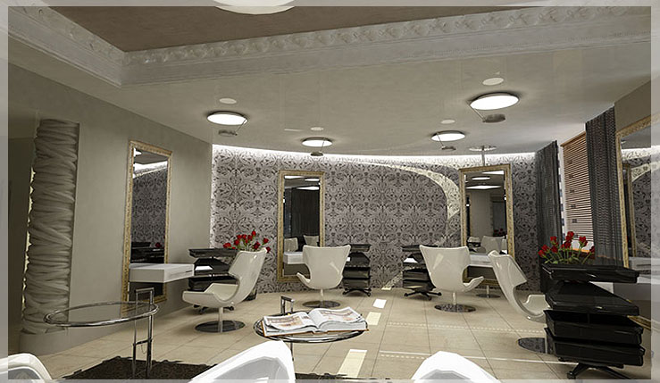 desain salon modern