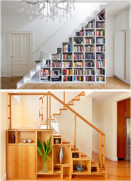 desain-rak-buku-bawah-tangga