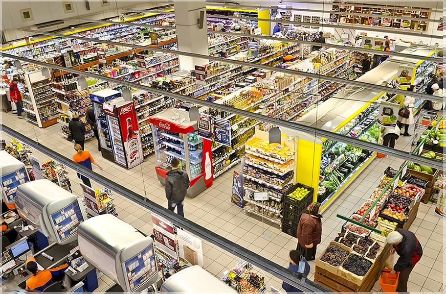 desain ruangan supermarket