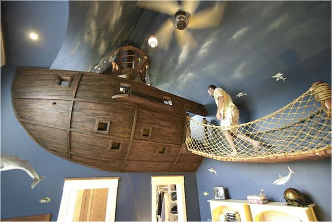 kamar tidur bajak laut