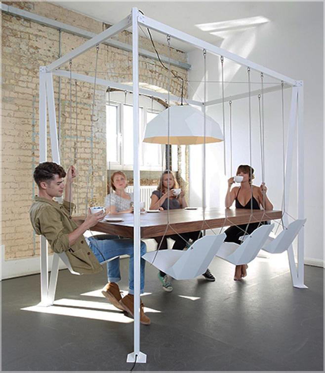 kursi dan meja makan gantung