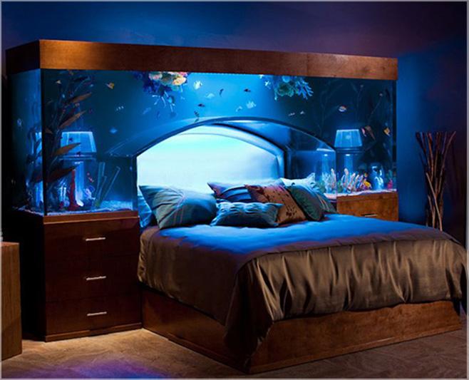 tempat tidur model akuarium