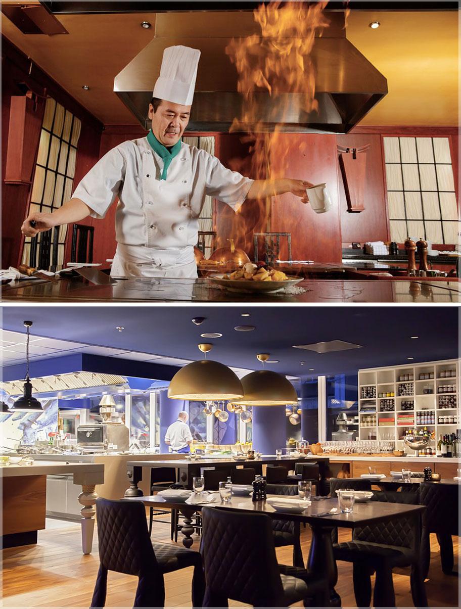 Desain dapur rumah makan atau restoran konsep modern minimalis for Kitchen set restoran
