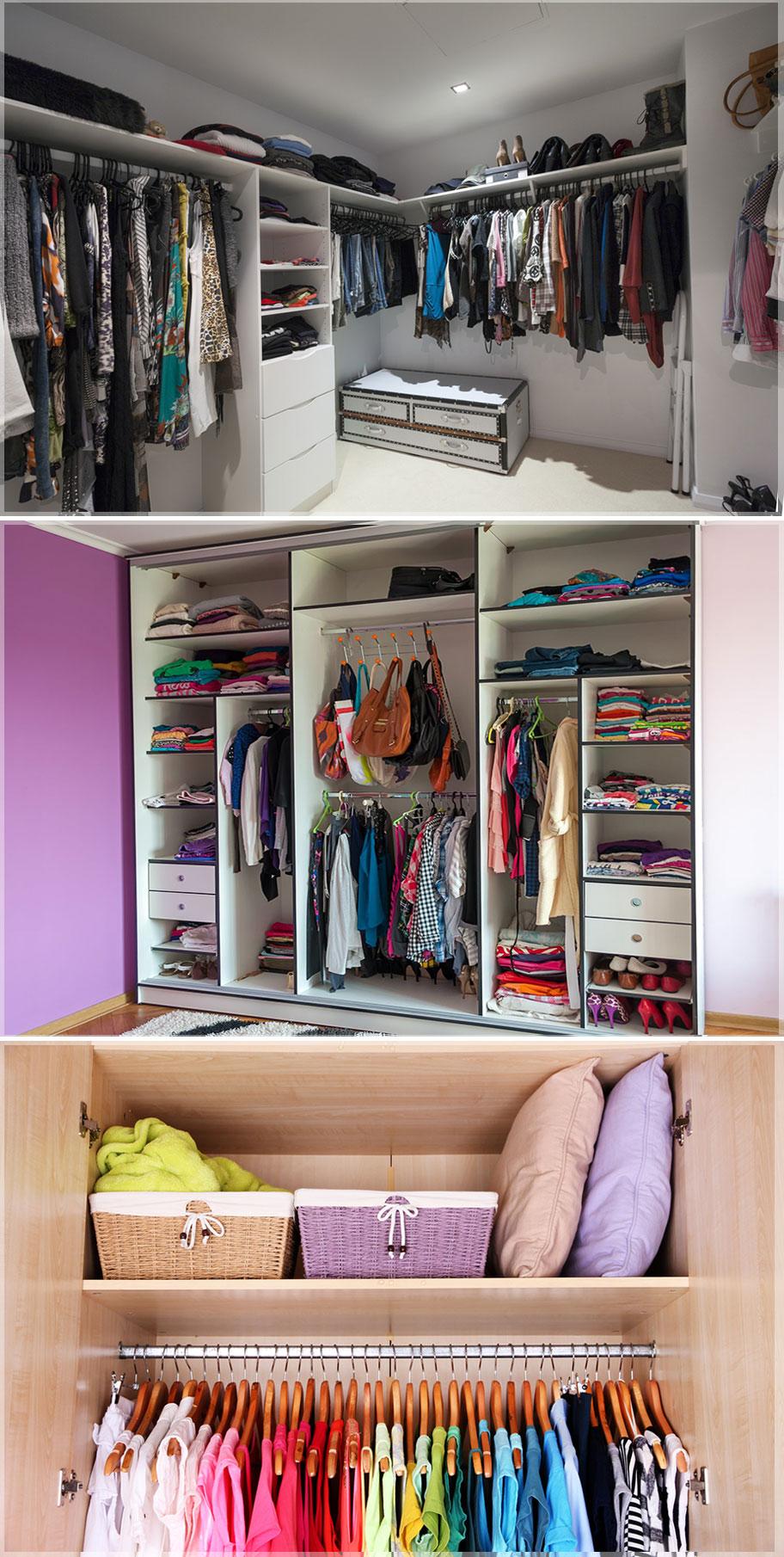 desain lemari pakaian gantung