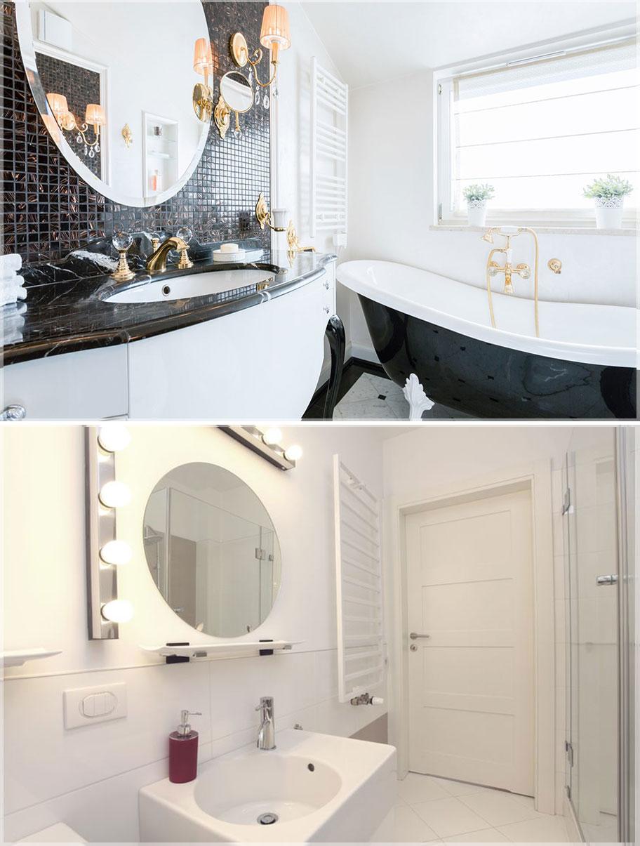 model cermin kamar mandi bulat