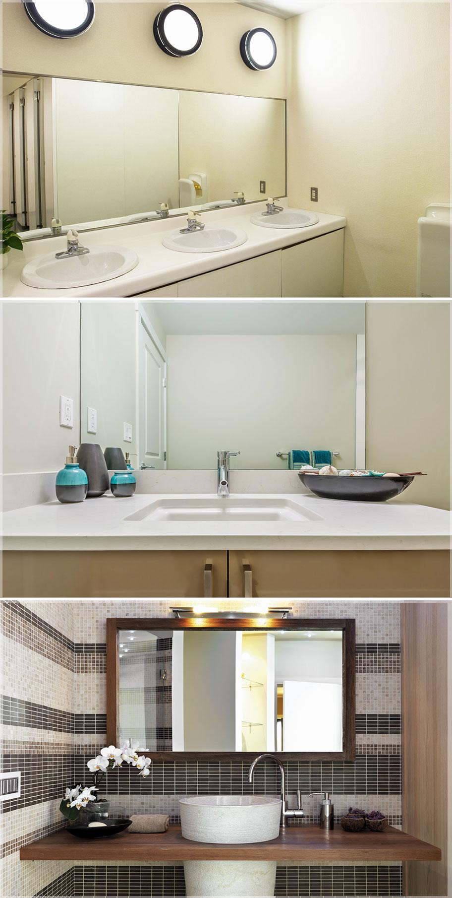 model kaca kamar mandi persegi