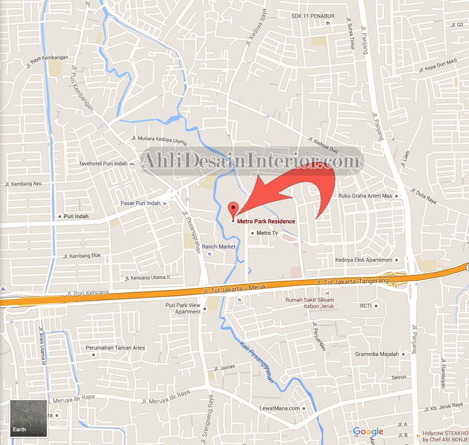 lokasi apartement metro park