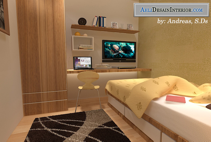 jasa desain kamar kost sederhana untuk mahasiswa karyawan