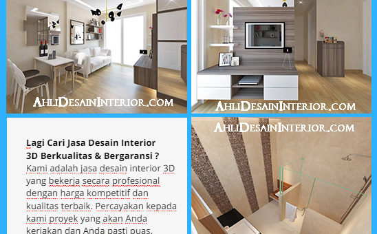 Jasa Desain Interior 3D Rumah, Apartemen, Kantor, Café Dll