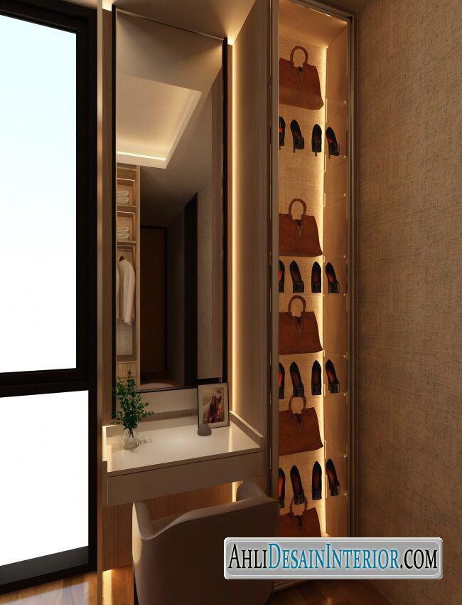 desain kamar dengan walk in closet