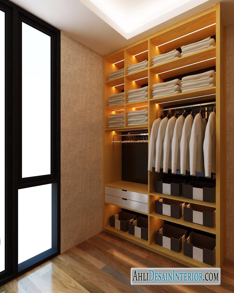 desain kamar tidur dengan walk in closet
