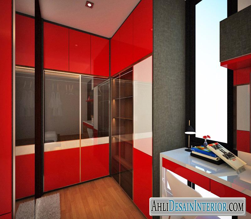 desain walk in closet kamar tidur