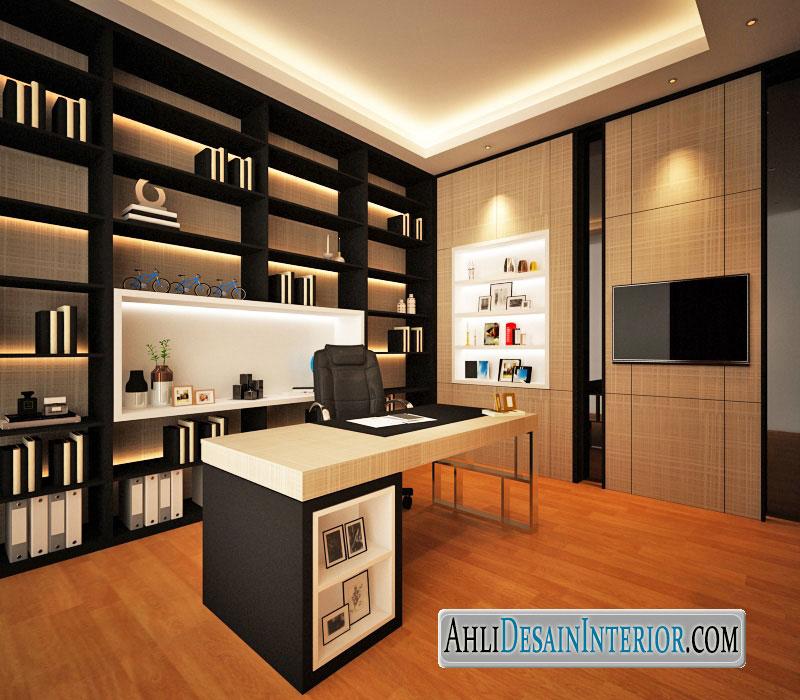 desain interior kantor di rumah