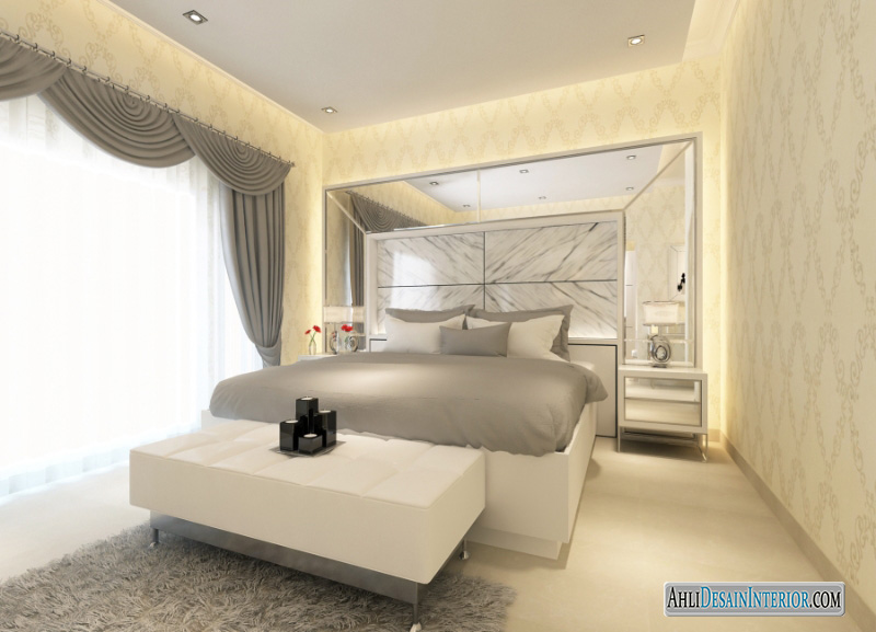 desain kamar tidur kampung melayu