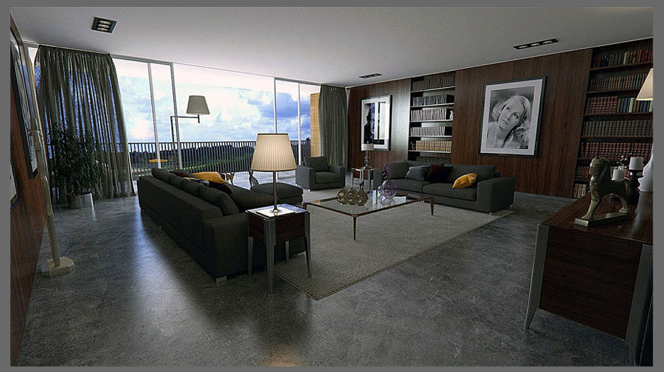 Desain  Interior Warung  Kopi  Modern nan Sederhana